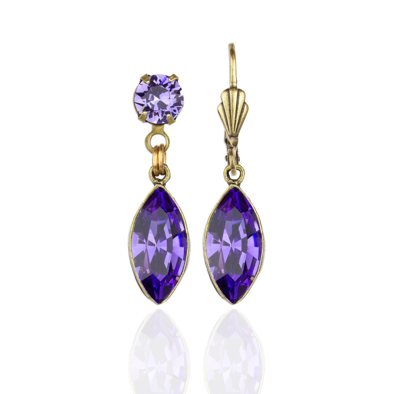 Victoria  Crystal Earrings