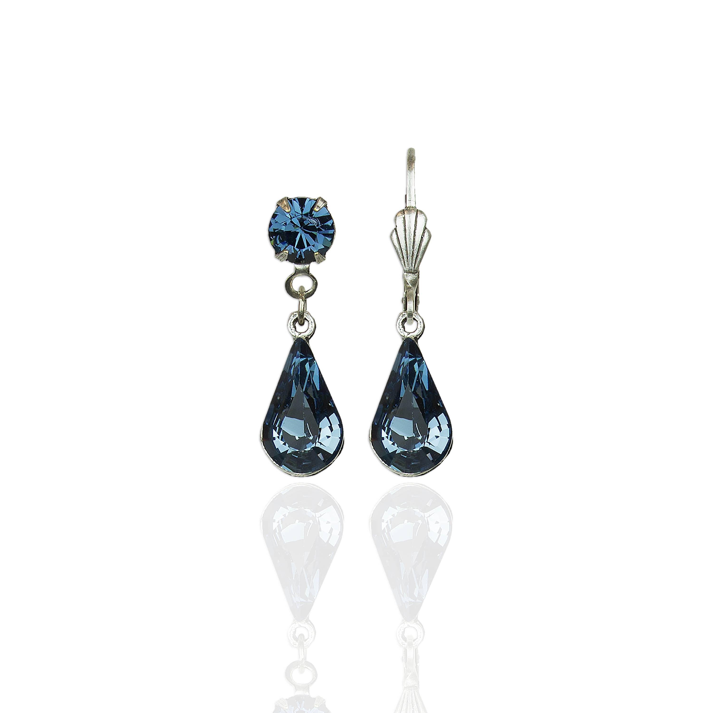 Verna's Teardrop  Crystal Earrings