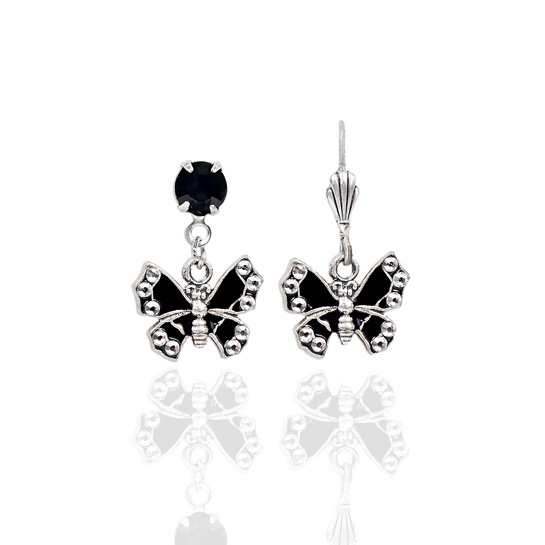 Arthemis  Crystal Butterfly Earrings