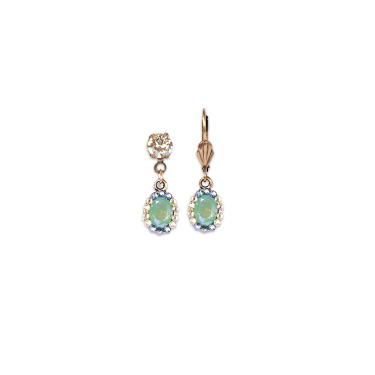Pacific Opal Victorian Style Earring (Antique Gold) | Anne Koplik Designs Jewelry | Handmade in America with Crystals from Swarovski®