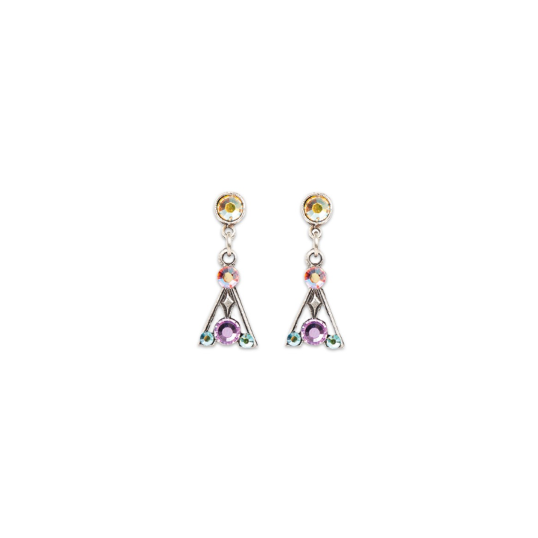 Dazzling Pastel Art Deco Earring (Short) | Anne Koplik Designs Jewelry | Handmade in America with Crystals from Swarovski®