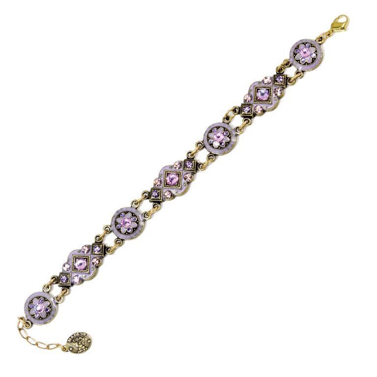 Light Amethyst Victorian Bracelet | Anne Koplik Designs Jewelry | Handmade in America with Crystals from Swarovski®