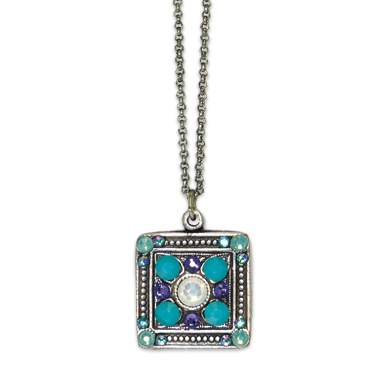 White Opal Egyptian Revival Pendant   Anne Koplik Designs Jewelry   Handmade in America with Crystals from Swarovski®