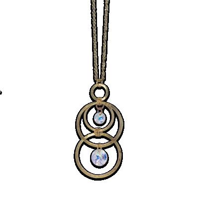 Modern Gold Circle Pendant | Anne Koplik Designs