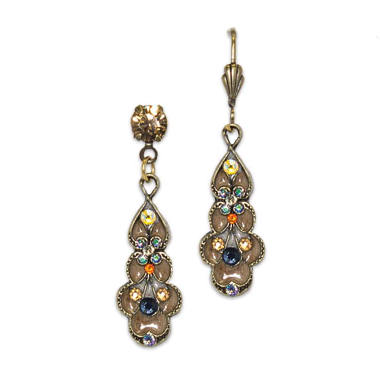 Light Colorado Topaz Art Nouveau Earring | Anne Koplik Designs Jewelry | Handmade in America with Crystals from Swarovski®