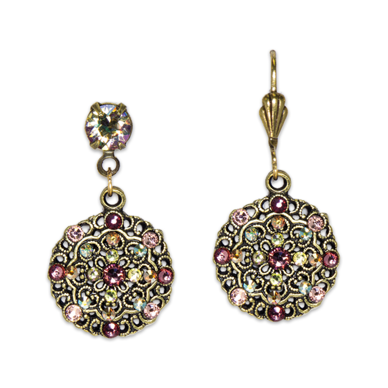 Belle Epoch Style Blush Earrings | Anne Koplik Designs Jewelry | Handmade in America with Crystals from Swarovski®