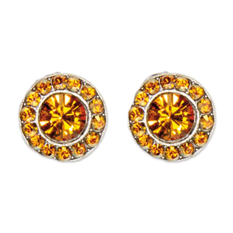 Copper Topaz Stud Earrings