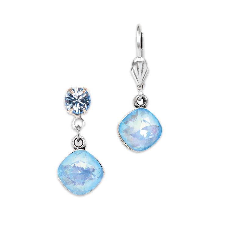 Ultra Blue Single Drop Earring | Anne Koplik Designs Jewelry | Handmade in America with Crystals from Swarovski®