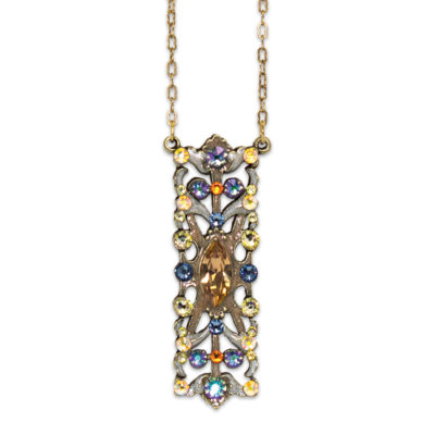 Light Colorado Topaz Art Nouveau Necklace | Anne Koplik Designs Jewelry | Handmade in America with Crystals from Swarovski®