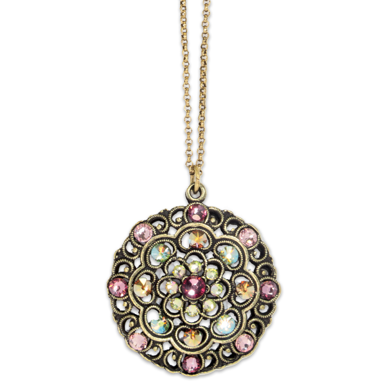 Belle Epoch Style Blush Pendant | Anne Koplik Designs Jewelry | Handmade in America with Crystals from Swarovski®