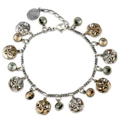 Sun & Sand Dollar Bracelet | Anne Koplik Designs Jewelry | Handmade in America with Crystals from Swarovski®