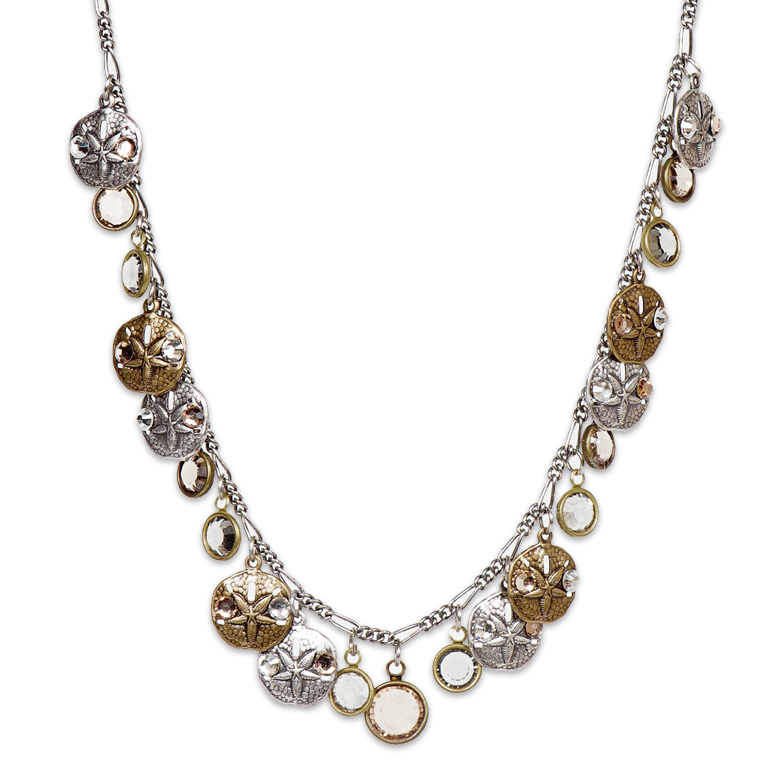 Sun & Sand Dollar Necklace | Anne Koplik Designs Jewelry | Handmade in America with Crystals from Swarovski®