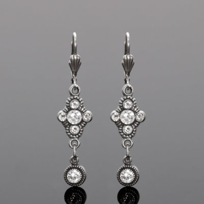 Trefoil Drop Crystal Earrings | Anne Koplik Designs Jewelry | Handmade in America with Crystals from Swarovski®