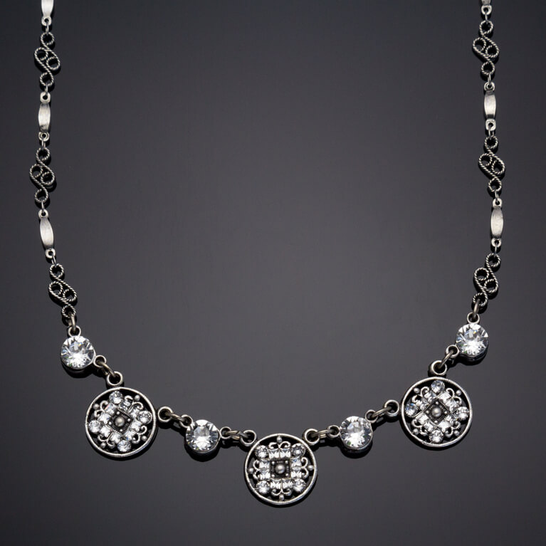 Byzantine Circle Collar Necklace | Anne Koplik Designs Jewelry | Handmade in America with Crystals from Swarovski®