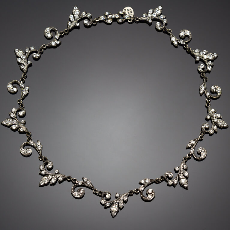 Continuous Crystal Vine Collar Necklace | Anne Koplik Designs Jewelry | Handmade in America with Crystals from Swarovski®
