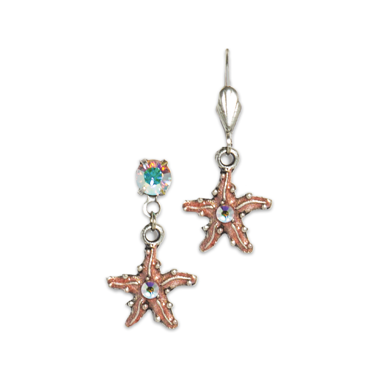 Starfish Shimmer Earrings | Anne Koplik Designs Jewelry | Handmade in America with Crystals from Swarovski®