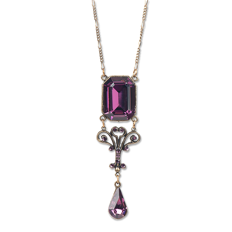 Fall In Love Emerald Cut Crystal Pendant | Anne Koplik Designs Jewelry | Handmade in America with Crystals from Swarovski®
