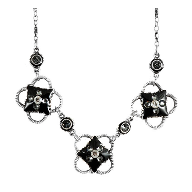 Lavish Silver Night Necklace | Anne Koplik Designs Jewelry | Handmade in America with Crystals from Swarovski®