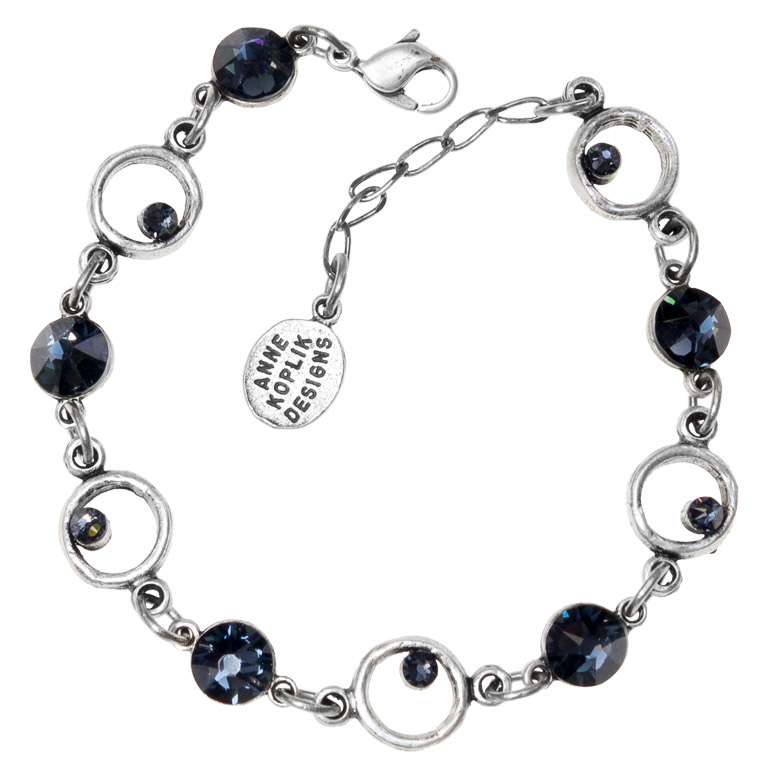 Graphite Galaxy Bracelet | Anne Koplik Designs Jewelry | Handmade in america with Crystals from Swarovski®
