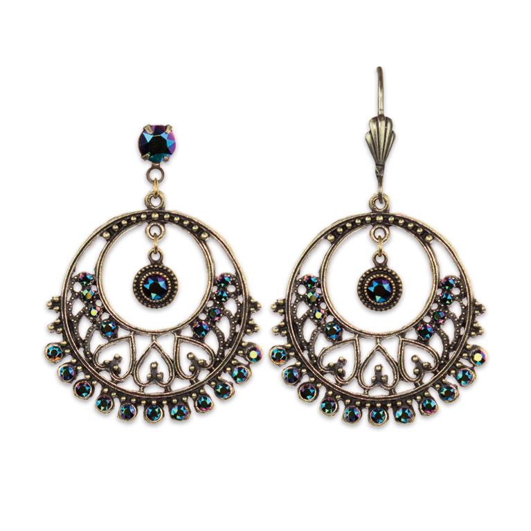 Romantic Safari Earrings | Anne Koplik Designs Jewelry | Handmade in America with Crystals from Swarovski®