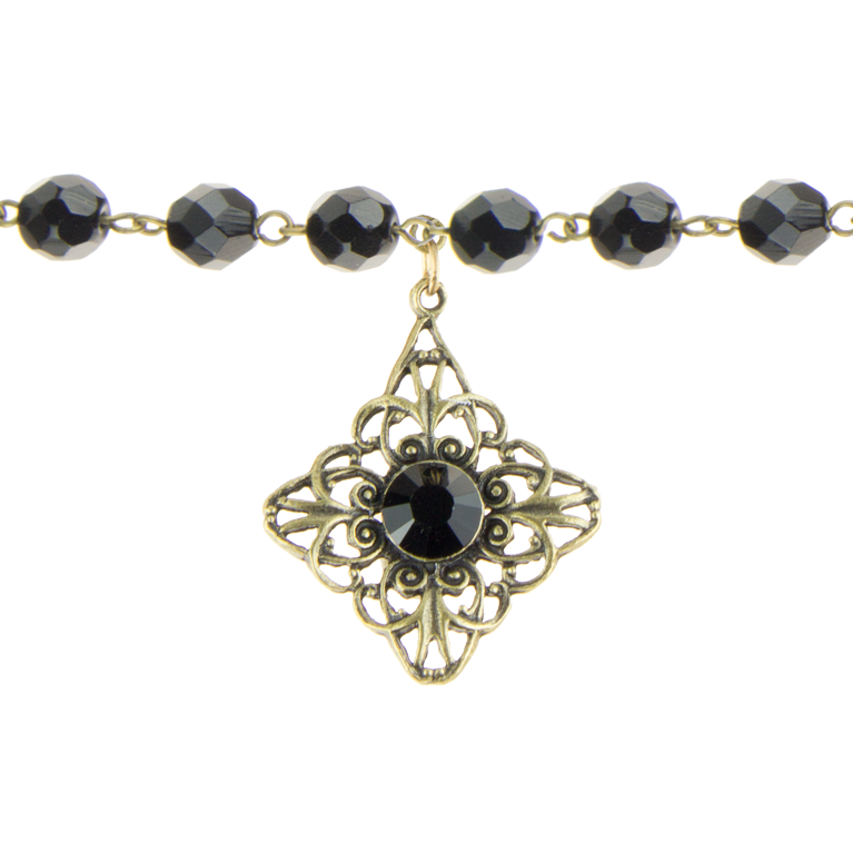 The Black Flamenco Choker | Anne Koplik Designs Jewelry | Handmade in America with Crystals from Swarovski®