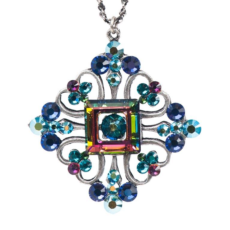 Majestic Jeweled Pendant   Anne Koplik Designs Jewelry   Handmade in America with Crystals from Swarovski®