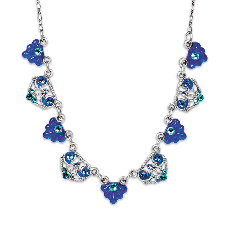 All Things Blue Necklace | Anne Koplik Designs Jewelry | Handmade in America with Crystals from Swarovski®