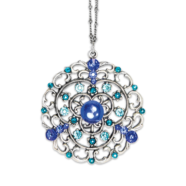 In Love With Blue Necklace | Anne Koplik Designs Jewelry | Handmade in America with Crystals from Swarovski®