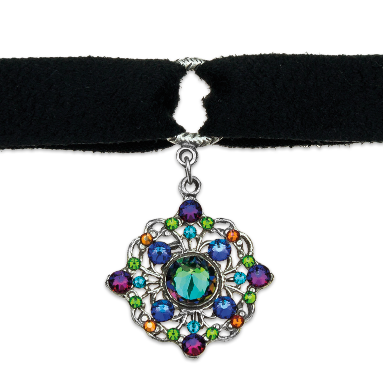 Personal Power Pendant Choker | Anne Koplik Designs Jewelry | Handmade in America with Crystals from Swarovski®