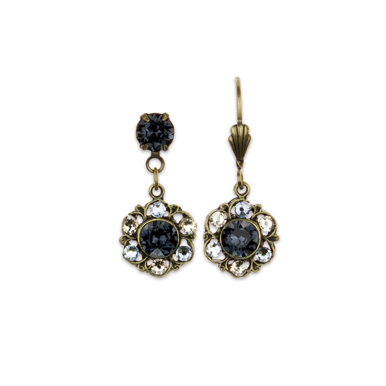 Everyday Zing Earrings Gray | Anne Koplik Designs Jewelry | Handmade in America with Crystals from Swarovski®