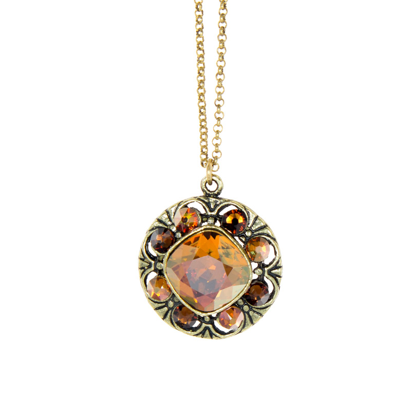 Everyday Zing Pendant Copper | Anne Koplik Designs Jewelry | Handmade in America with Crystals from Swarovski®