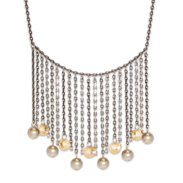 Lagom Fringe Necklace | Anne Koplik Designs Jewelry | Handmade in America with Crystals from Swarovski®