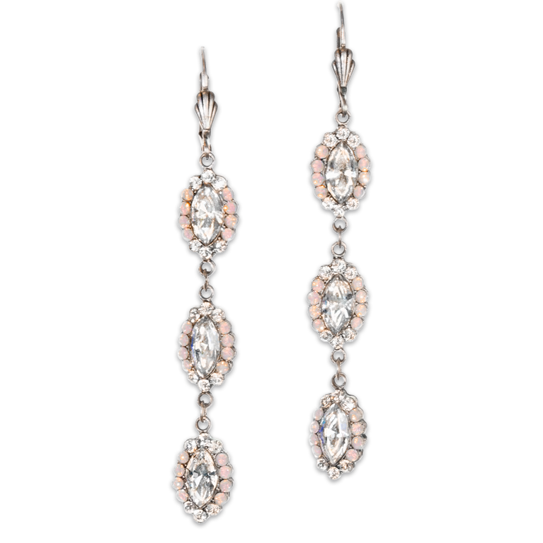 Magical Moonlight Crystal Earrings | Anne Koplik Designs Jewelry | Handmade in America with Crystals from Swarovski®