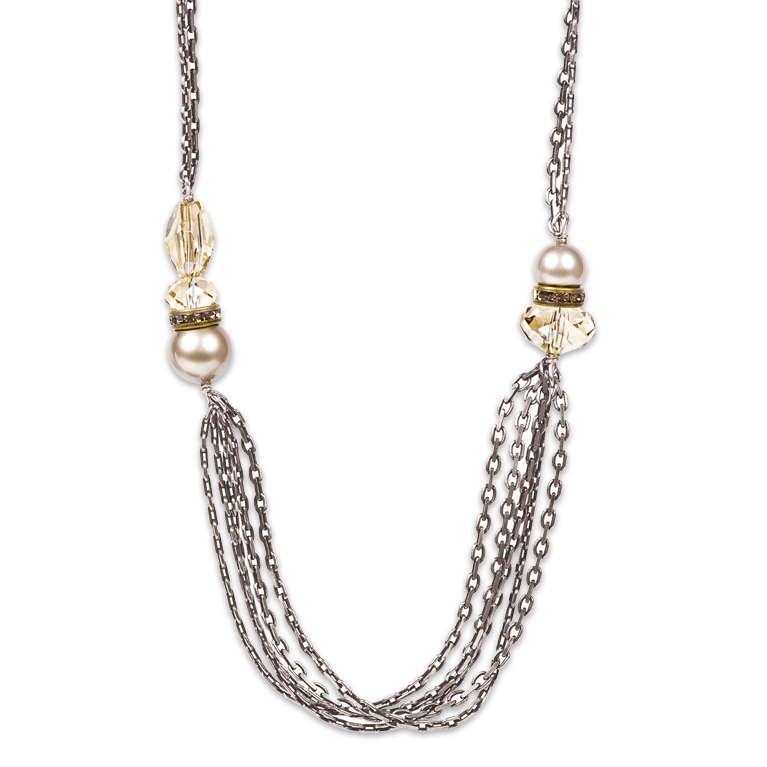 Elysian Chain Necklace | Anne Koplik Designs Jewelry | Handmade in America with Crystals from Swarovski®