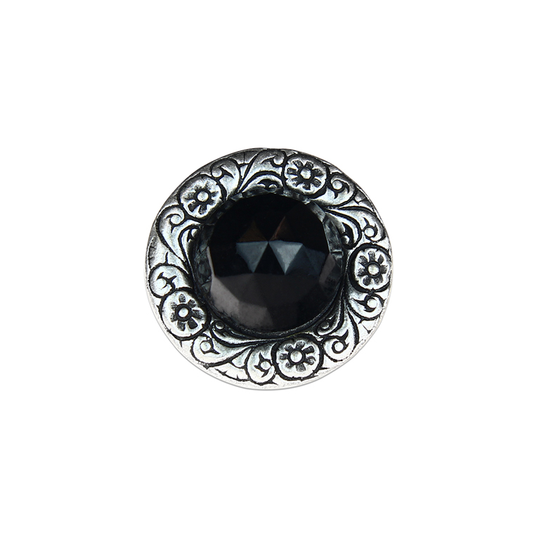 Embossed Silver and Black Ring | Anne Koplik Designs Jewelry | Handmade in America with Crystals from Swarovski®
