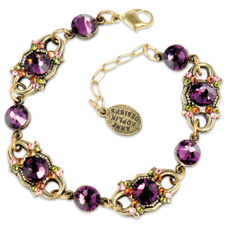 Swarovski® Amethyst Multicolored Bracelet | Anne Koplik Designs Jewelry | Handmade in America with Crystals from Swarovski®