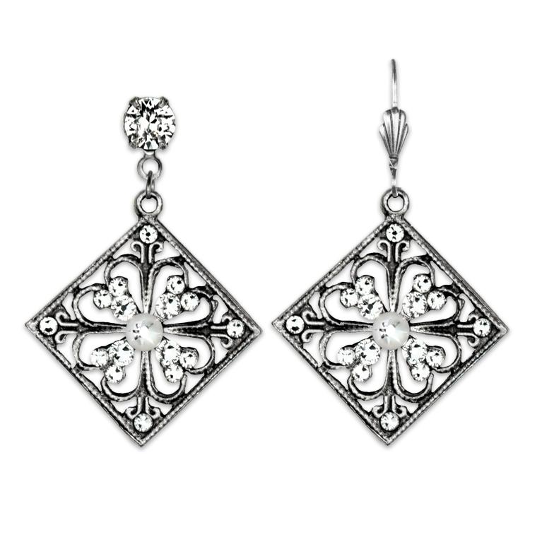 Gatsby's Daisy Earrings | Anne Koplik Designs Jewelry | Handmade in America with Crystals from Swarovski®