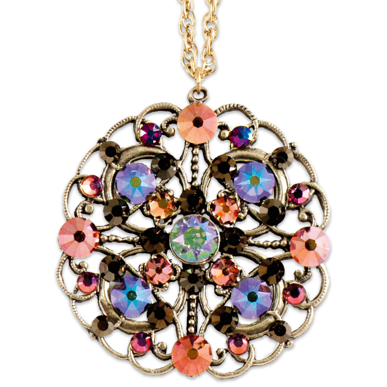 Dazzlingly Bejeweled Pendant | Anne Koplik Designs Jewelry | Handmade in America with Crystals from Swarovski®