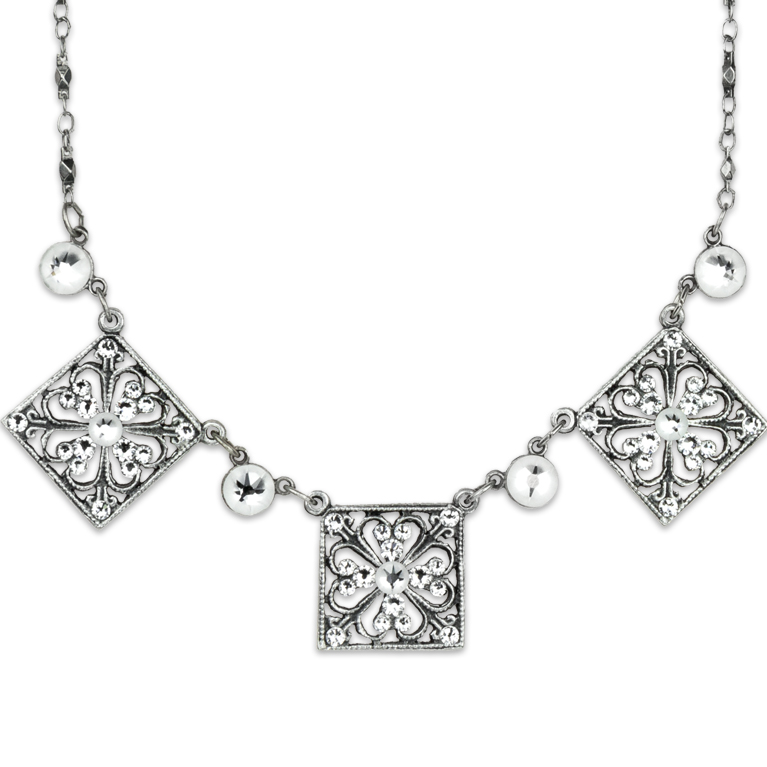 Gatsby's Daisy Necklace | Anne Koplik Designs Jewelry | Handmade in America with Crystals from Swarovski®