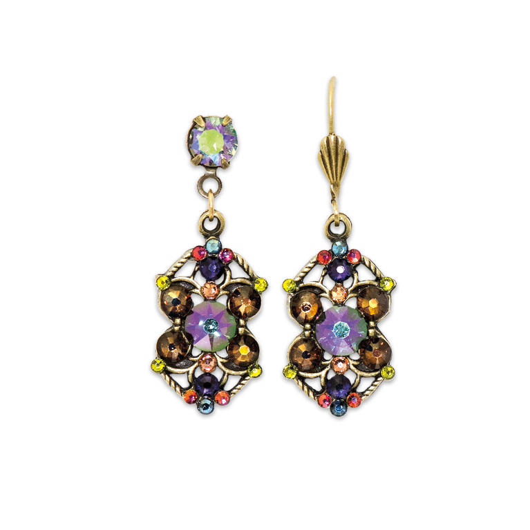 Spectacular Paradise Shine Multicolored Earrings | Anne Koplik Designs Jewelry | Handmade in America with