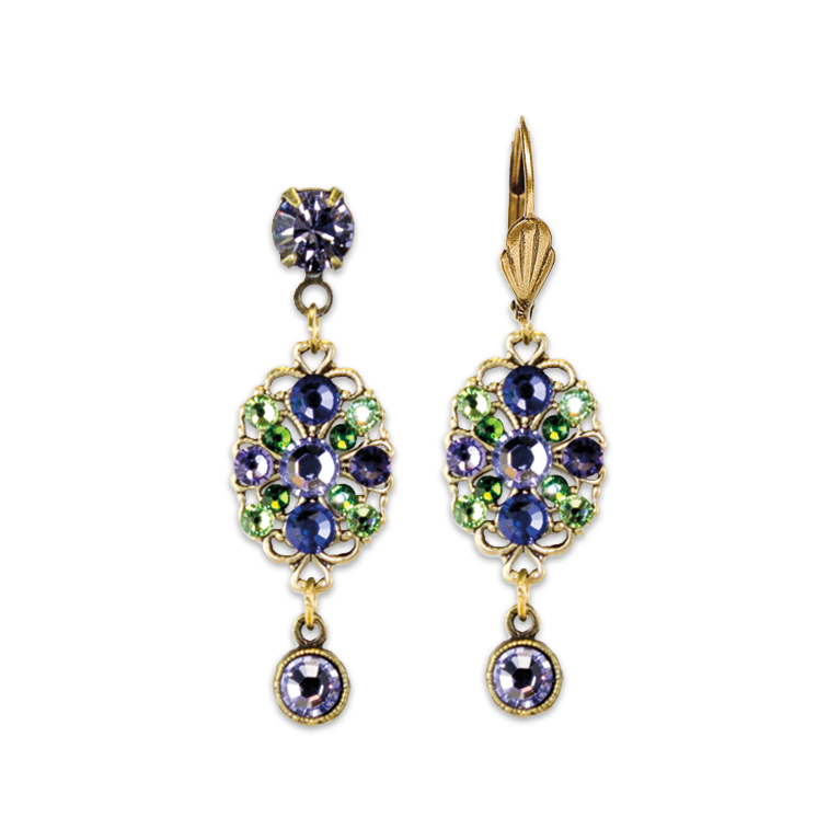 Shades Of Purple Earrings | Anne Koplik Designs Jewelry | Handmade in America with Crystals from Swarovski®