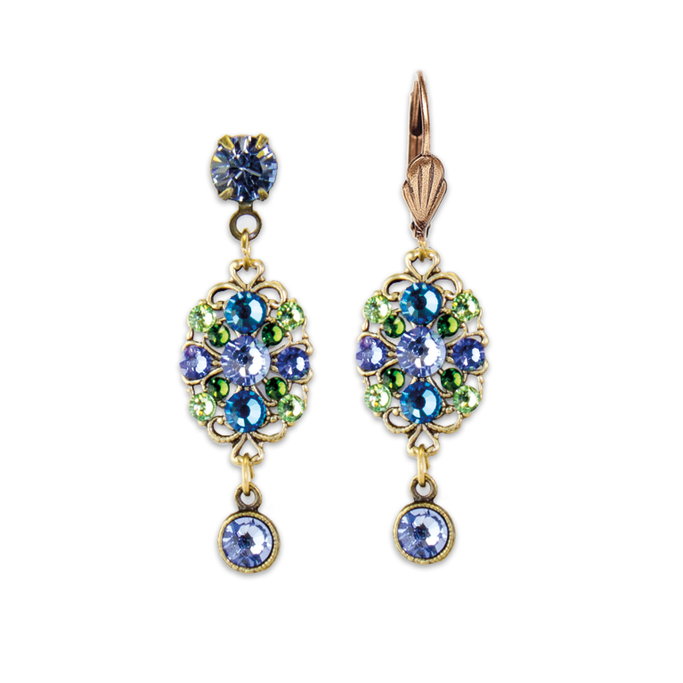 Shades Of Blue Earrings | Anne Koplik Designs Jewelry | Handmade in America with Crystals from Swarovski®