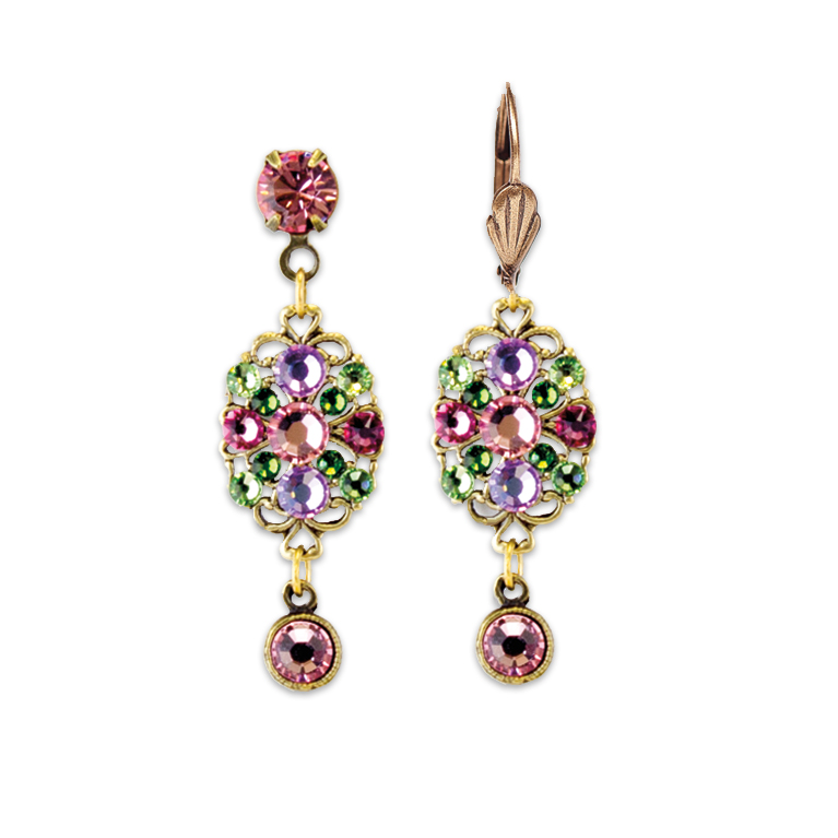 Shades Of Pink Earrings | Anne Koplik Designs Jewelry | Handmade in America with Crystals from Swarovski®