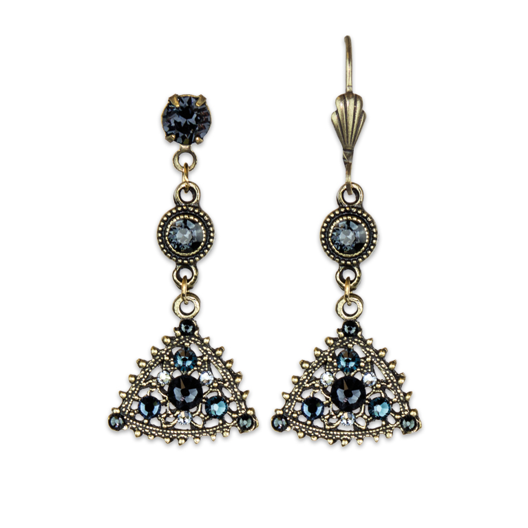 Graphite Sparkling Earrings | Anne Koplik Designs Jewelry | Handmade in America with Crystals from Swarovski®