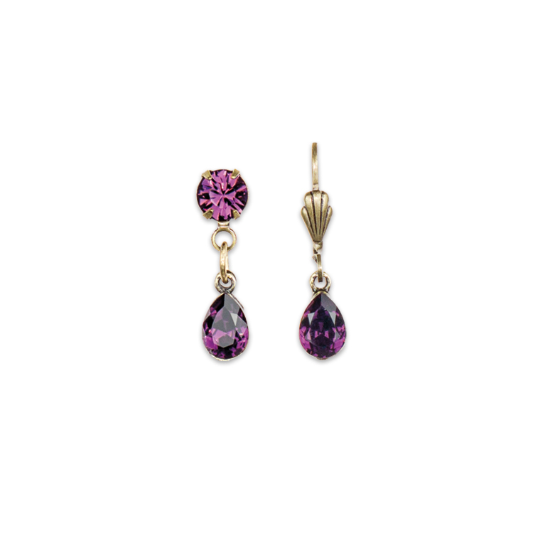 Passionate Purple Sunset Earrings | Anne Koplik Designs Jewelry | Handmade in America with Crystals from Swarovski®