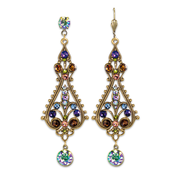 Spectacular Paradise Shine Multicolored Statement Earrings | Anne Koplik Designs Jewelry | Handmade in America with Crystals from Swarovski®
