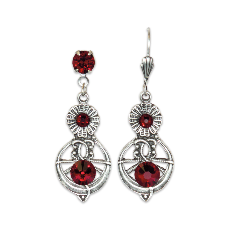 Red Is Your Color Earrings | Anne Koplik Designs Jewelry | Handmade in America with Crystals from Swarovski®