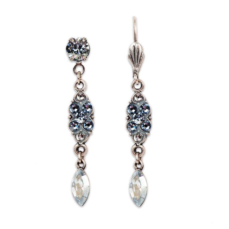 Blue Shades Of Winter Earrings | Anne Koplik Designs Jewelry | Handmade in America with Crystals from Swarovski®