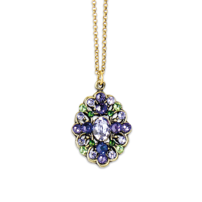 Shades Of Purple Necklace | Anne Koplik Designs Jewelry | Handmade in America with Crystals from Swarovski®