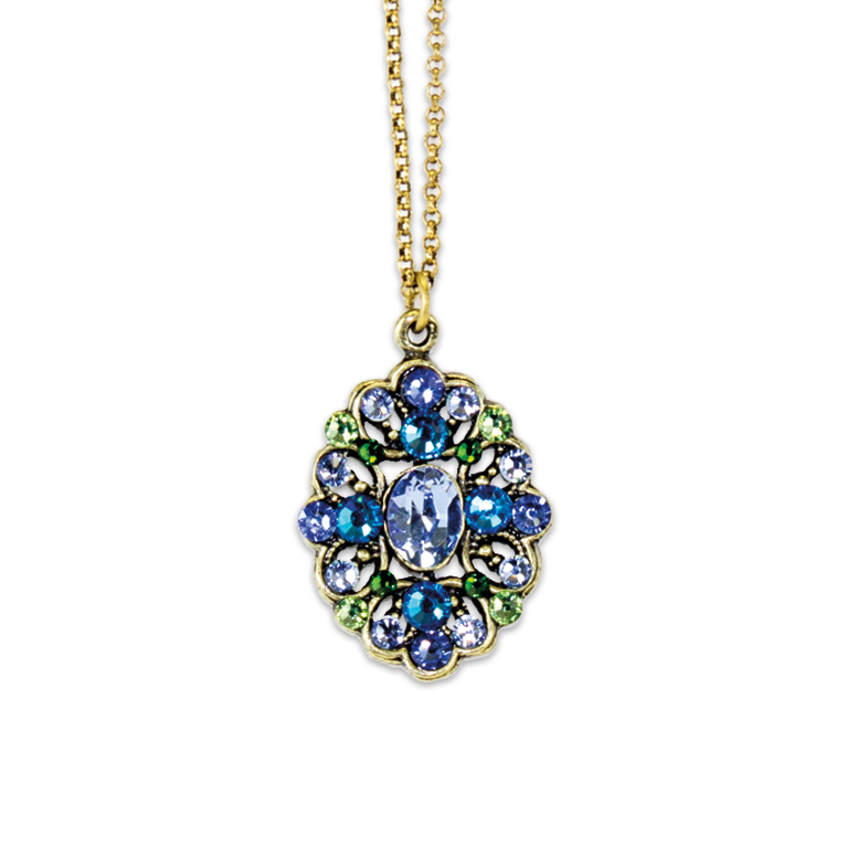 Shades Of Blue Necklace | Anne Koplik Designs Jewelry | Handmade in America with Crystals from Swarovski®